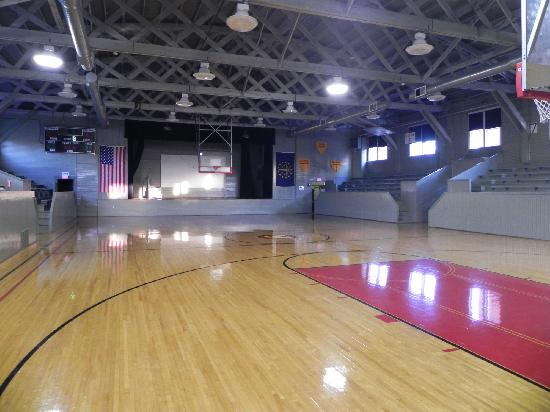 Inside Hoosier Gym Basketball courts - Picture of Hoosier