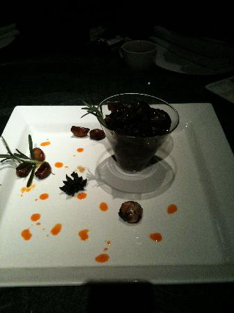 Presentation of one of the dishes