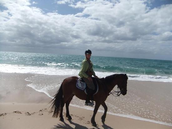 andBeyond Benguerra Island: horseback riding on the beach