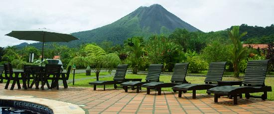 Volcano Lodge & Springs: Arenal Volcano from our property