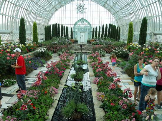 Saint Paul, MN: garden in the conservatory