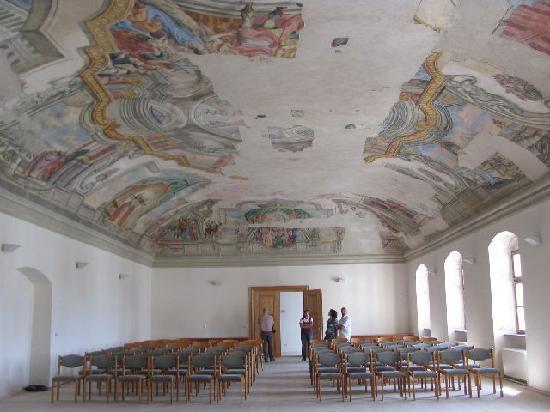 Monastery Aldersbach: festivity hall with ceiling frescoes