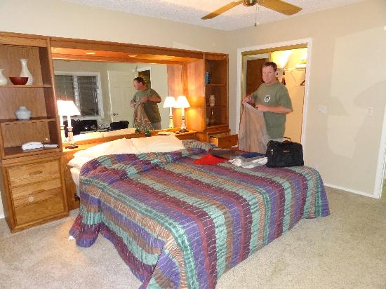 Los Lagos at Hot Springs Village: Master bedroom w/small HD TV