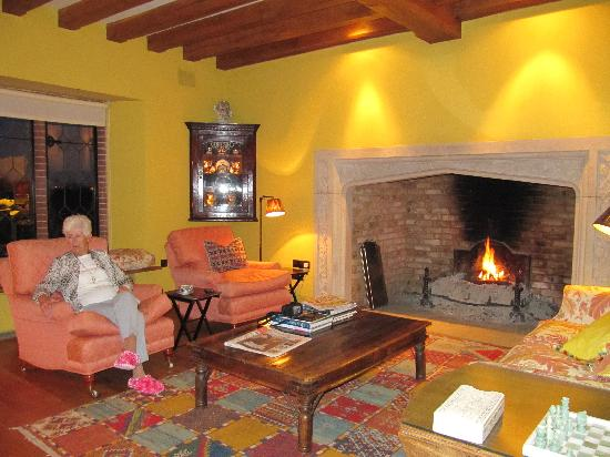 The Old Hall Bed & Breakfast: Around the log fire