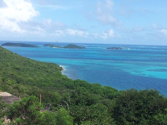 Simply Carriacou Island Tours: View of the Tobago cays from Mayreau