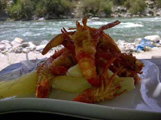 Hotel Los Palomos: tipical food from Lunahuana
