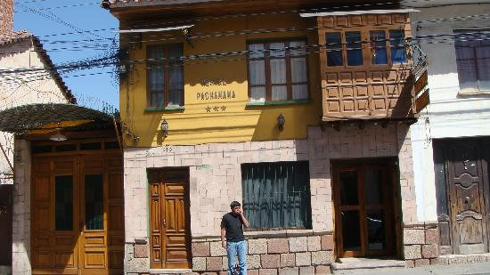 # Pachamama Hostel: Streetfront view