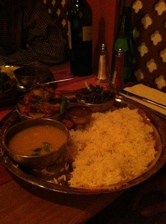 Yak Yeti Yak: set meal with chefs choice of chicken dish