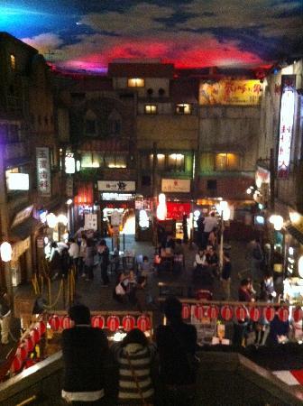 Shinyokohama Ramen Museum: view from the top of the restaurant area