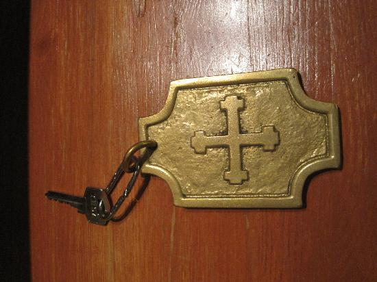 Monasterio de San Francisco: Room key reminds of hotel's history