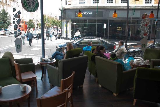 Starbucks: Inside the bright windows
