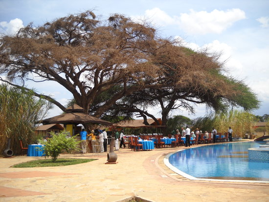 Kilima Safari Camp: Lunch by the pool
