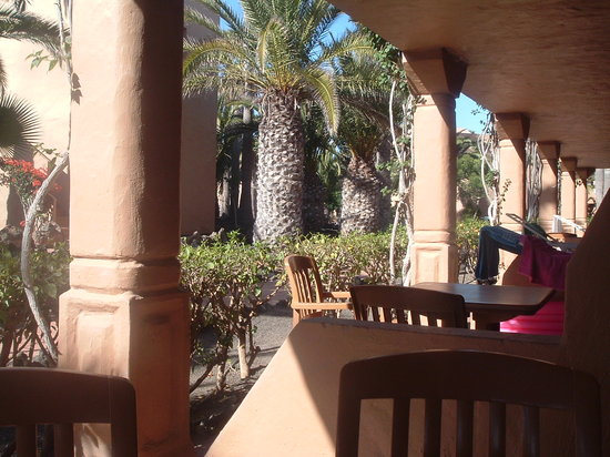 Oasis Duna Hotel: The view from our ground floor balcony