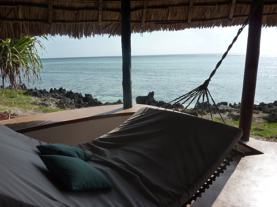 Matemwe Lodge, Asilia Africa: our day bed looking over the water