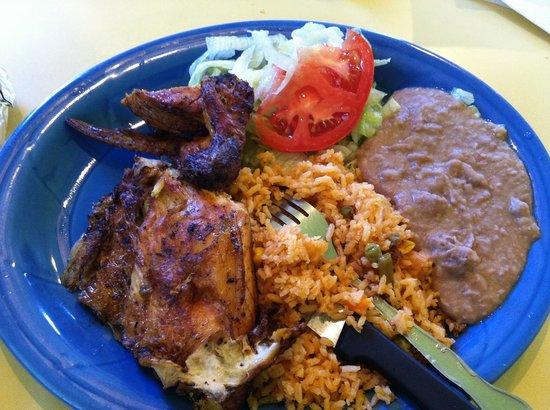 Quarter Chicken Plate White Meat Picture Of Pollo