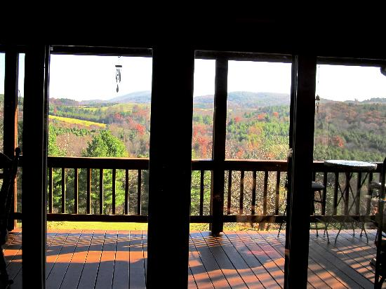 Mountain Song Inn: View from inside the main living area