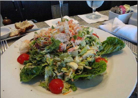 Mariposa: King Crab Salad, with Green Goddess Dressing