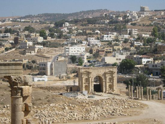 Jerash, Jordanië: Another view to the north