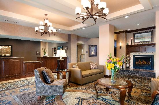 Homewood Suites Minneapolis - St Louis Park at West End: Cozy comfort of home each visit beside our fireplace and warm welcome from our staff