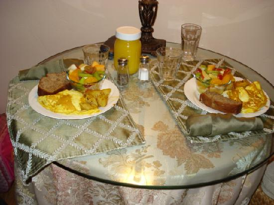 A White Jasmine Inn: A really great hot breakfast delivered to your room.