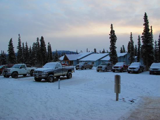 Motel Nord Haven Aurora Denali Lodge: Parking Lot