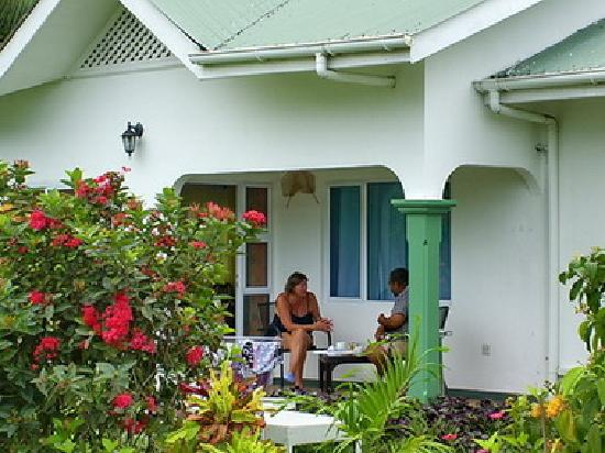 Jamalac Bungalows: Guest relaxing under private verandah