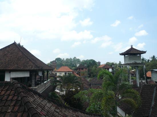 Rumah Roda : tetti di ubud dalla finestra del bagno