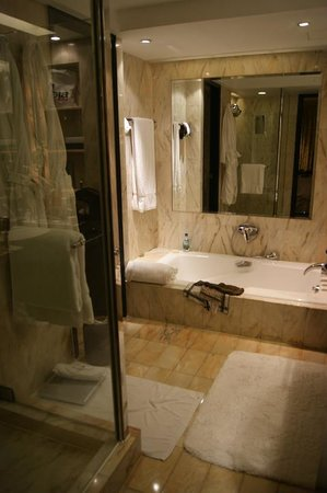 InterContinental Hong Kong: Short view into the bath room with tube shower and separated toilet