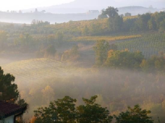 Borgo dei Cadolingi: Mid-morning fog from terrazzo