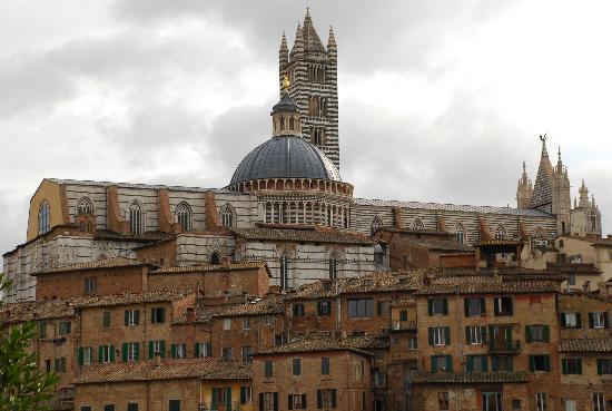 Cathédrale Notre-Dame-de-l'Assomption de Sienne : Duomo se Siena visto desde santuario sta Caterina