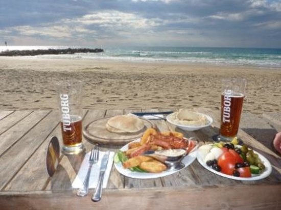 Food and Beach in Haifa