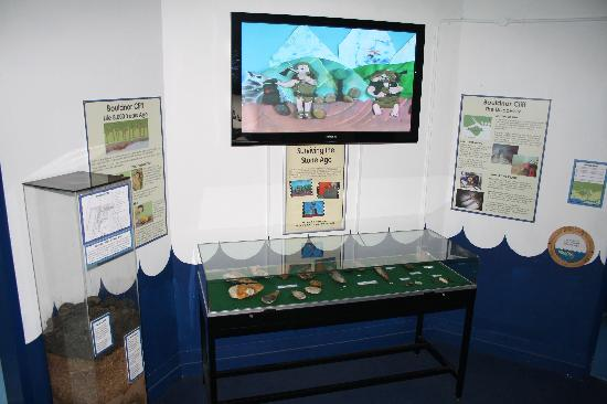 Sunken Secrets: The prehistory room features an exhibition on the nearby submerged settlement of Bouldnor Cliff.