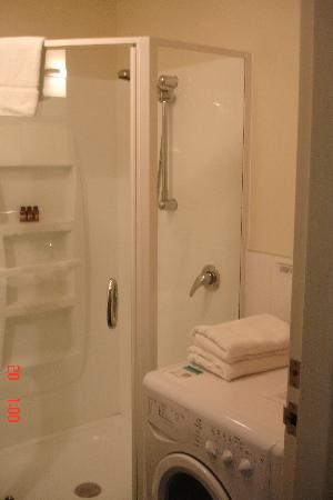 Astelia Apartment Hotel: Shower/washer