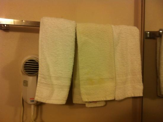Enid, OK: nasty towel in the middle