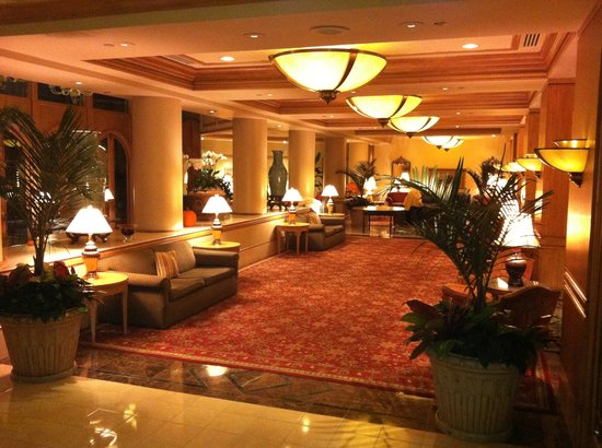 The Rittenhouse Hotel: The hotel lounge area (event just being cleaned up so tables still out)
