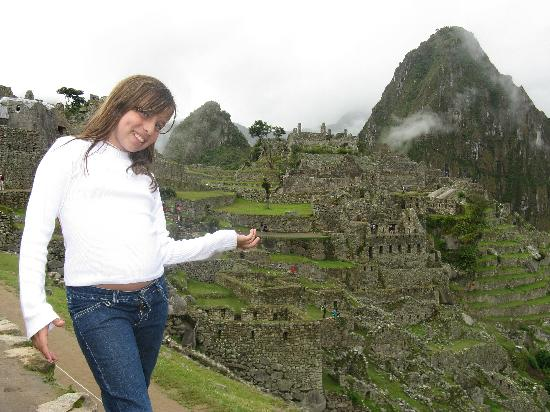 Cusco, Peru: My daughter Fernanda, in Machu Picchu, Peru
