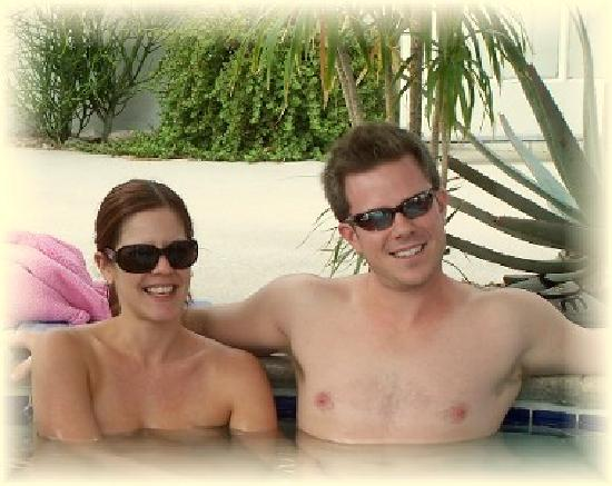 Living Waters Clothing-optional Spa: A couple in our mineral water pools