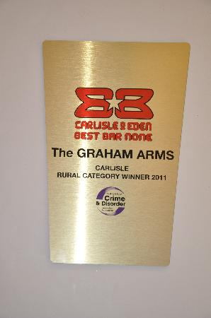 Graham Arms Hotel: WINNER OF BEST BAR NONE SCHEME