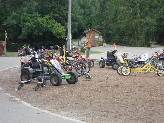 Baraboo Hills Campground: some of the bikes available
