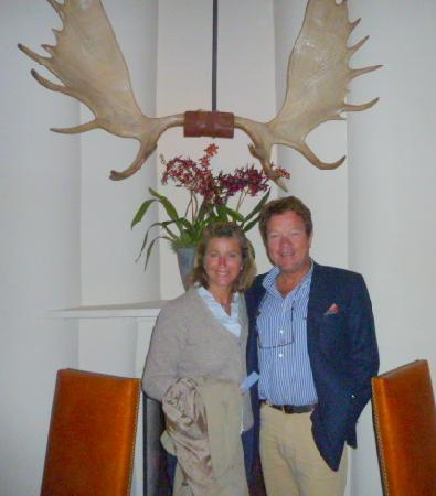 Inn of the Five Graces : hein and conny at theexcellent  geronimo restaurant