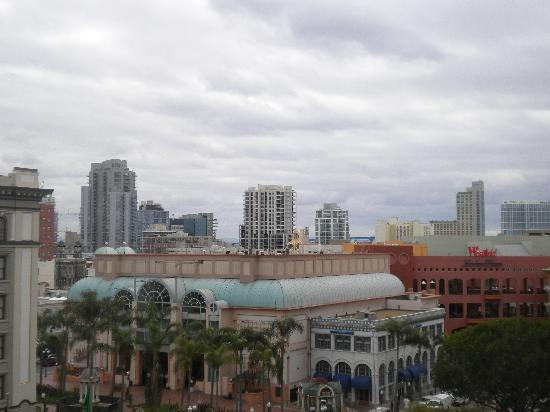 The Westgate Hotel: View from room. Nearby mall and Ralph's grocery store