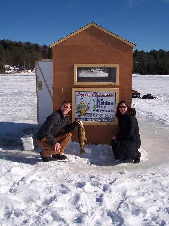 Logging Chain Lodge: Heated Ice Fishing Huts