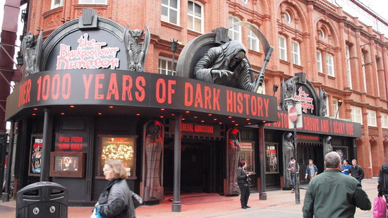 The Blackpool Tower Dungeon: The impressive entrance to The Dungeon