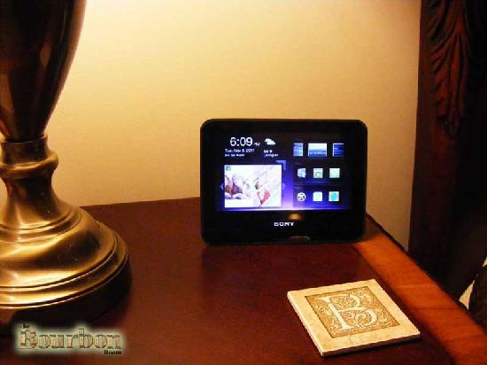 Essence of the Bluegrass: Sony Dash Internet tablets in every room.