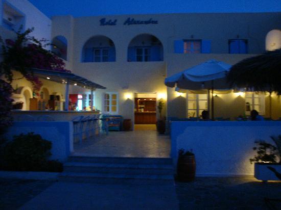 Alexandra Hotel: The pool by night