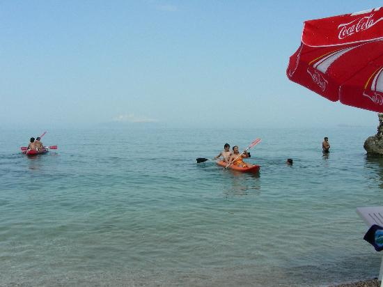 Hotel New York: Kayak surfing in Ionian Sea, Vlora Albania