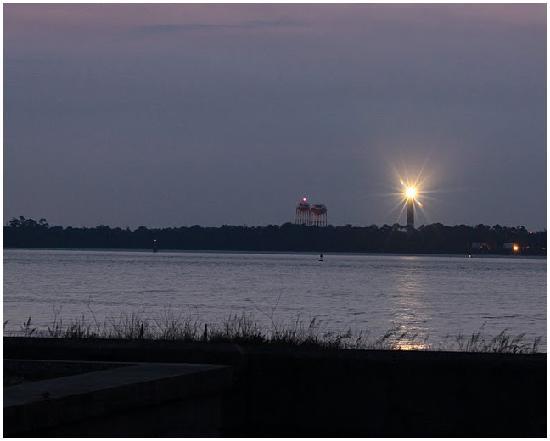 Pensacola Beach: Pensacola Lighthouse, assists sailors coming into Pensacola Pass at night