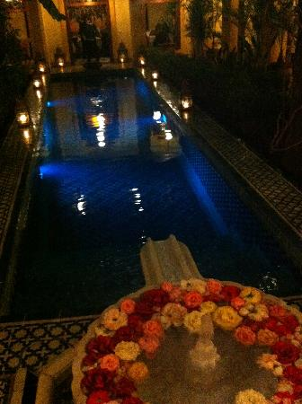 Riyad Al Moussika: The pool at night