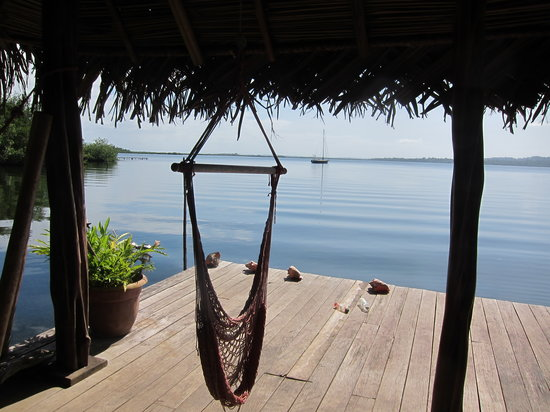 Dolphin Bay Hideaway: View of Dolphin Bay from their dock