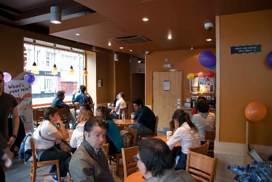 Starbucks: In the ground floor seating area